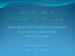 HIERARCHICAL CONDITION CATEGORIES