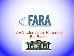 FARA False Alarm Prevention