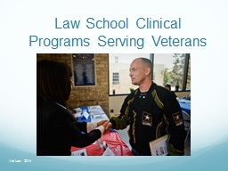 Law School Clinical Programs Serving Veterans