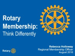 Rebecca Holloway Regional Membership Officer