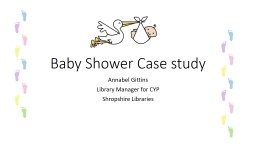 Baby Shower Case study Annabel Gittins