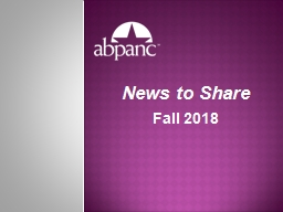 News to Share Fall  2018