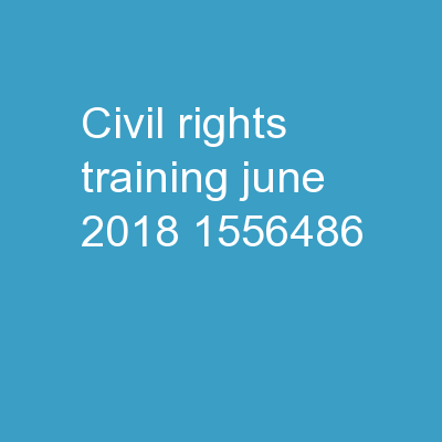 Civil  Rights  Training June 2018