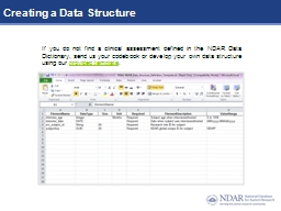 Creating a Data Structure