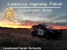 Susanville Area California Highway Patrol