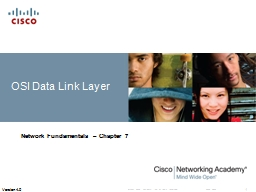 OSI Data Link Layer Network Fundamentals – Chapter 7