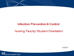 Infection Prevention & Control
