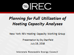 Planning for Full Utilization of Hosting Capacity Analyses