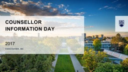 Counsellor  Information Day