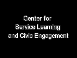 Center for Service Learning and Civic Engagement