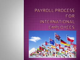 Payroll Process for  International Employees