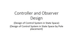 Controller  and Observer