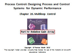Process Control: Designing Process and Control Systems  for Dynamic Performance