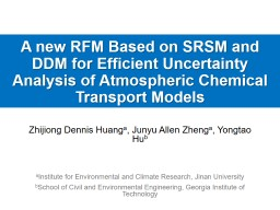 A new RFM Based on SRSM and DDM for Efficient Uncertainty Analysis of Atmospheric Chemical Transpor