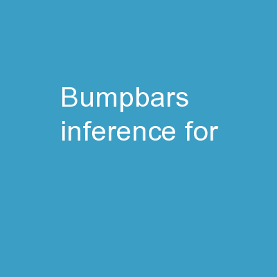 Bumpbars :  Inference  for