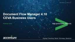 Release notes Document Flow Manager 4.10