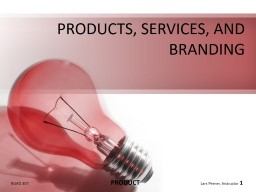 PRODUCTS, SERVICES, AND BRANDING