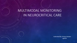 Multimodal monitoring in PowerPoint PPT Presentation