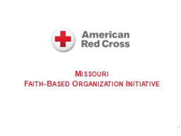 Missouri Faith-Based Organization Initiative