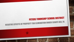 Peters township school district PowerPoint PPT Presentation