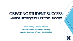 CREATING STUDENT SUCCESS