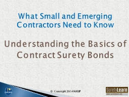 What Small and Emerging Contractors Need to Know