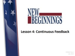 Lesson 4: Continuous Feedback