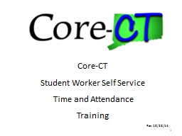 1 Core-CT Student Worker Self Service