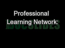 Professional Learning Network: