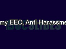 Army EEO, Anti-Harassment
