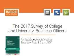 The 2017 Survey  of College