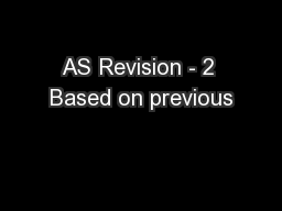 AS Revision - 2 Based on previous