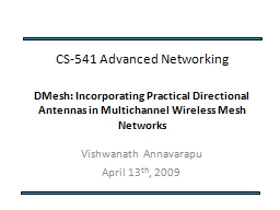 CS-541  Advanced Networking