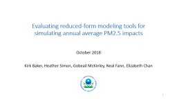 Evaluating reduced-form modeling tools for simulating annual average PM2.5 impacts