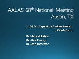 AALAS 68 th  National Meeting