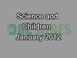 Science and Children  January 2012