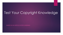 Test Your Copyright Knowledge