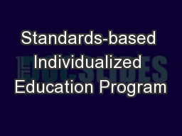 Standards-based Individualized Education Program