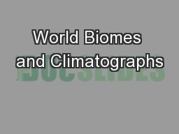 World Biomes and Climatographs