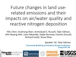 Future changes in land use-related emissions and their impacts on air/water quality and reactive ni