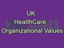UK HealthCare: Organizational Values