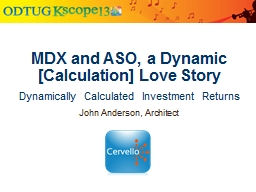 MDX and ASO, a Dynamic [Calculation] Love Story