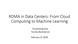RDMA in Data Centers: From Cloud Computing to Machine Learning