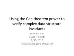 Using the Coq theorem  prover