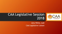 CAA Legislative Session 2018