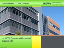 PNNL-SA-133052 2018 IECC Commercial Mechanical Requirements