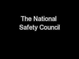 The National Safety Council
