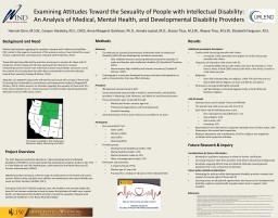 Examining Attitudes Toward the Sexuality of People with Intellectual Disability: An Analysis of Med