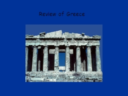 Review of Greece A B C D PowerPoint PPT Presentation