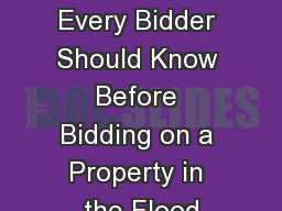 Flood Plain 101 What Every Bidder Should Know Before Bidding on a Property in the Flood